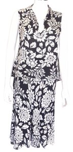 Theory Theory Black-White Floral 2pc Skirt outfit Sz Sm-P Euro 38-40