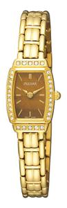 Pulsar W omen's PEGE60 Crystal Tiger Eye Dial Watch