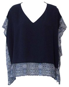 BCBGeneration Trimmed Dolman Flowy Top Deep Blue