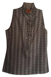 Tory Burch Top Brown And White Print