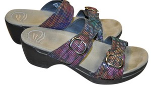 Dansko Size 39 Slip On multi-colored Sandals
