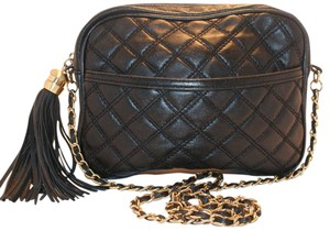 Paradox Signature Leather Quilted Chain Tassels Cross Body Bag