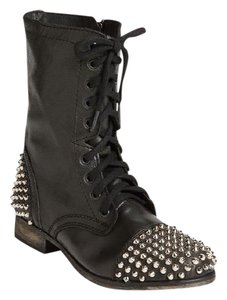 Steve Madden Studded Leather Black Boots