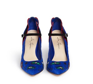 Isa Tapia New Blue x Red Pumps