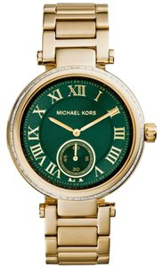 Michael Kors Michael Kors Skylar MK6065 Gold Stainless Green Dial Watch