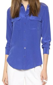 Equipment Silk Signature Blue Top