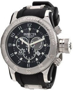 Invicta Men's 0803 Russian Diver Offshore Chronograph Black Dial Watch