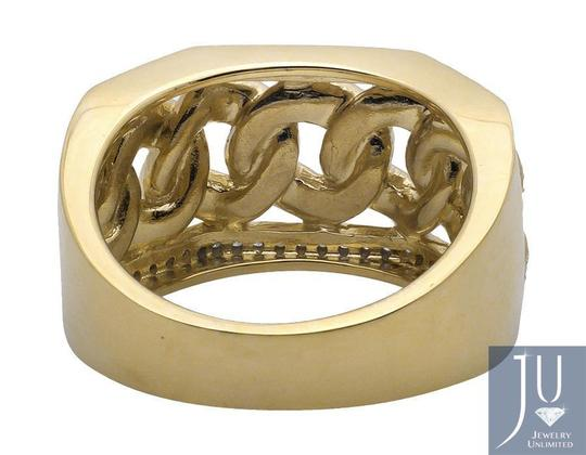 Other Miami Cuban Link Style Genuine Diamond Pinkyt Ring 1.0ct