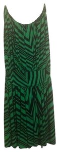 Express short dress green and black Spring Sleeveless Geometric Abstract on Tradesy