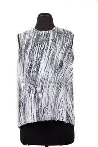 Kenzo A-line Sequin & Top Black and White