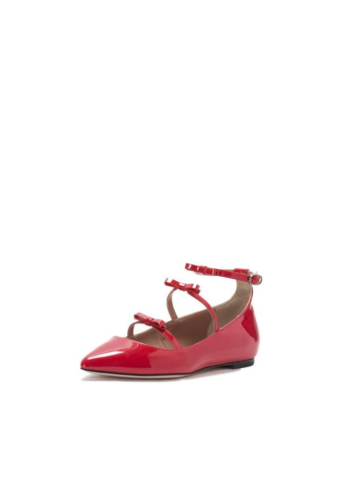RED Valentino Patent Leather Bow Mary-jane Ballerina Flats Size US 6 ...