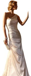 Galina Signature Swag Beaded One Shoulder Charmse Slim Swg494 Ivory Wedding Dress