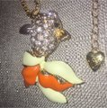 Betsey Johnson Gorgeous Gold Fish Pendant & Chain