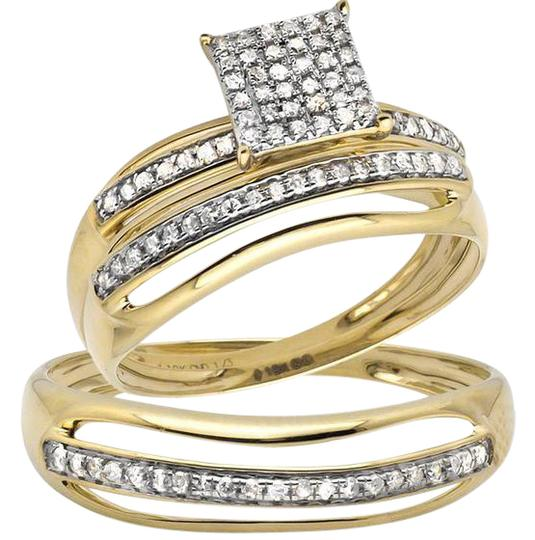 Jewelry Unlimited 10k Yellow Gold Mens Ladies Square Split