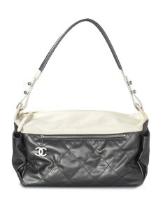 Chanel Leather Canvas Hobo Bag