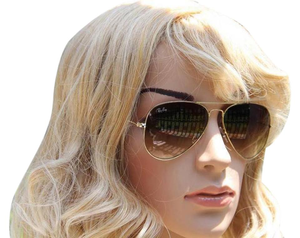 ray ban aviator gold brown gradient