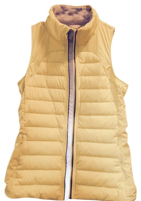 Item - Pea Yellow Sporty - Fluffed Up 800 Fill Goose Down Vest Size 10 (M)