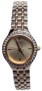 Citizen EJ6044-51P Ladies Analog Gold Dial Two Tone Stainless Steel Watch-R11