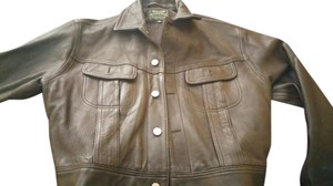 Polo Ralph Lauren Black leather Leather Jacket