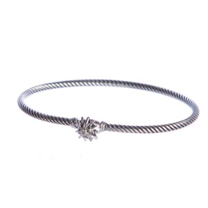 David Yurman Starburst Single-Station Bracelet w/ Diamonds 3mm Sz Medium $395 NEW