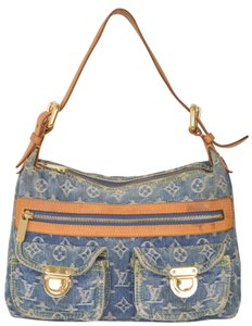 Louis Vuitton Monogram Denim Baggy Pm Jeans Shoulder Bag