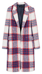 Zara Chic Limited Edition Checkered Print Coat