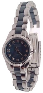 Armitron Ceramic Women's Silver and Blue Watch BROKEN!!!
