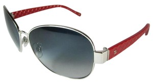 Chanel 4168 Aviators CC Logo Red Silver Pilot Quilted Classic Round Square