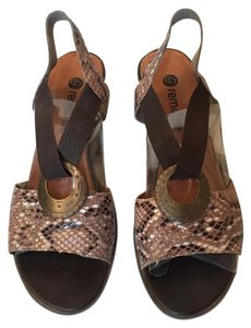 Remonte by Rieker Snakeskin, brown Sandals