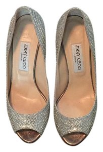 Jimmy Choo Wedding Baxon Party Summer Fun Jimmy Sparkles Champagne Silver Wedges