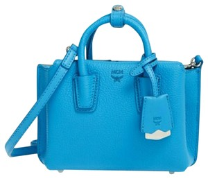 MCM Milla Xmini Micro-mini Blue Cross Body Bag