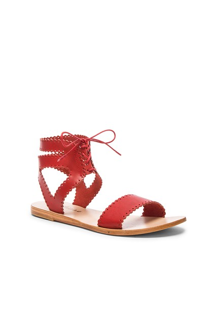 Item - Red Boho Chic Ankle Cool Ties New Sandals Size US 9 Regular (M, B)