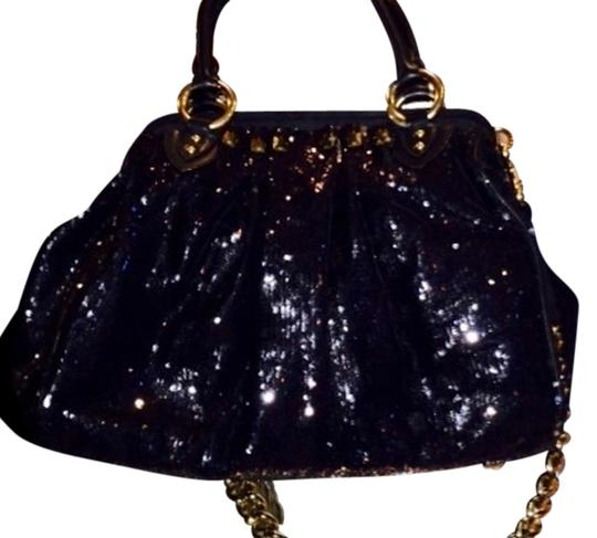 Preload https://item2.tradesy.com/images/marc-jacobs-15-wide-1012height-6-handle-drop-15-chain-drop-large-black-leather-sequined-with-satin-i-2126836-0-0.jpg?width=440&height=440