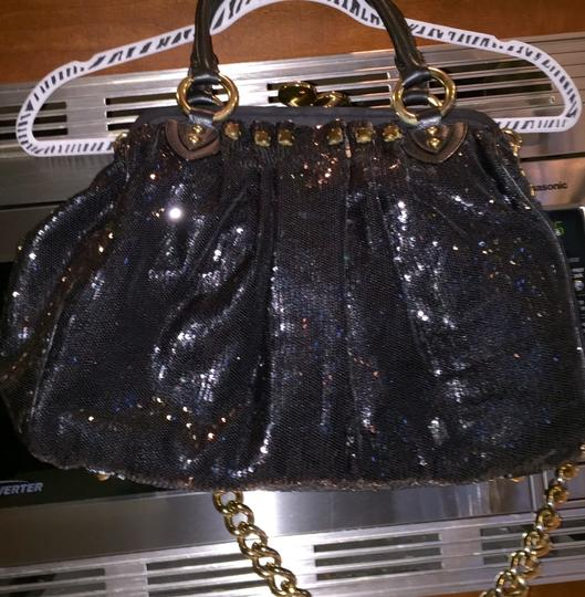 """Marc Jacobs 15"""" Wide 101/2""""Height 6"""" Handle Drop 15"""" Chain Drop Large Tote in Black"""