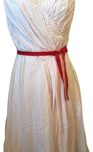 In The Now short dress white, red dots on Tradesy