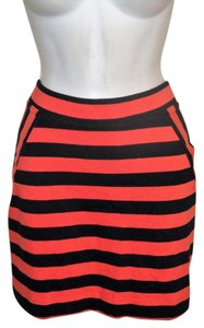 Gap Nwt Nautical S Skirt Orange and Navy Striped