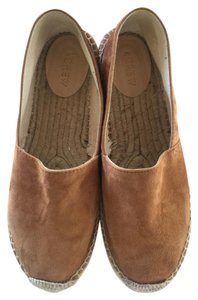 J.Crew Espadrille Leather Jute Sole Stable brown Flats