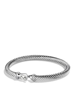 David Yurman David Yurman 5mm Cable Buckle Bracelet w/Diamonds