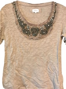 Anthropologie T Shirt Taupe