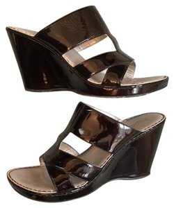 Bølo Black Patent Leather Sandals