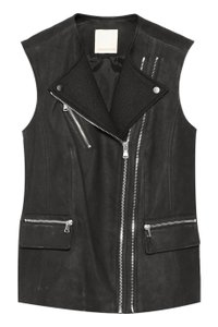 Rebecca Taylor Suede Zippers Stylish Gilet Vest