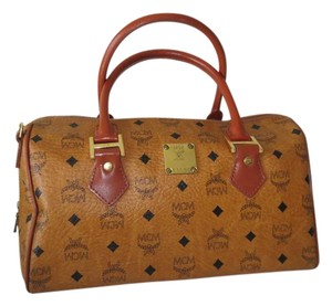 MCM Vuitton Speedy Keepal Italy Tiger Satchel in Brown Multi