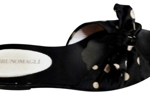 Bruno Magli black white Mules