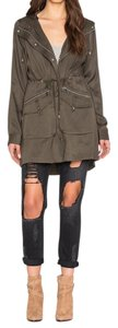 1.STATE Silver Hardware Military Jacket