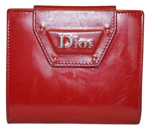 Dior Red Leater Wallet