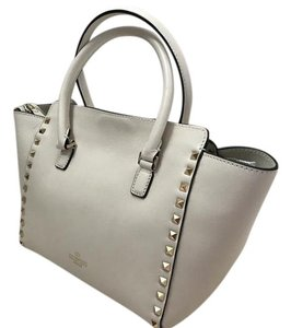 Valentino Mini Spring Summer Leather Tote in Ivory