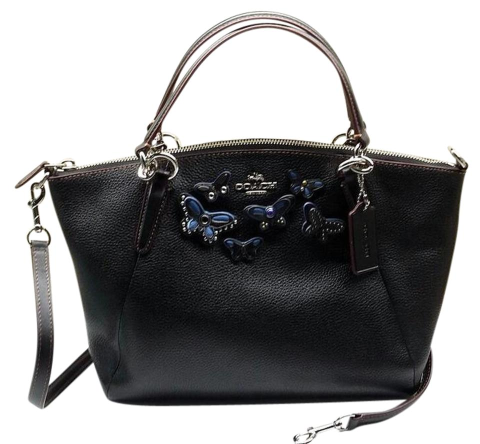 eaef51a5298b6 Coach Kelsey Butterfly Applique Small Kelsey  Msrp Black Pebbled Leather  Cross Body Bag 44% off retail