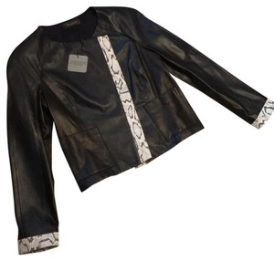 St. John black Leather Jacket