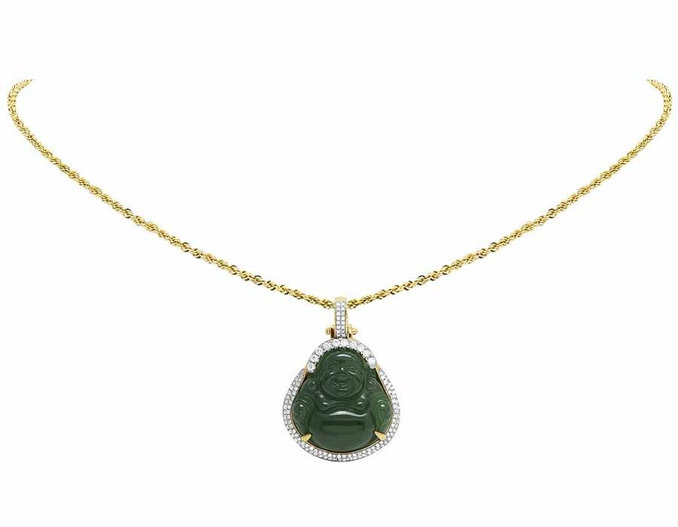dragon jadeite jewelry antique necklace pebble jade yellow item full pendant
