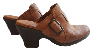 B.O.C. Leather Casual Comfortable Brown Mules